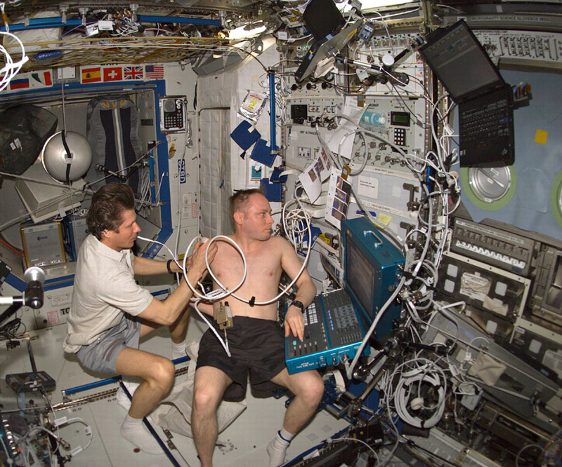 Remote ultrasound procedures help provide for medical diagnoses on the International Space Station.