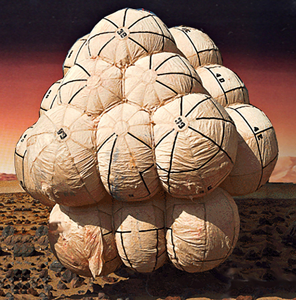 Mars Pathfinder's airbags.