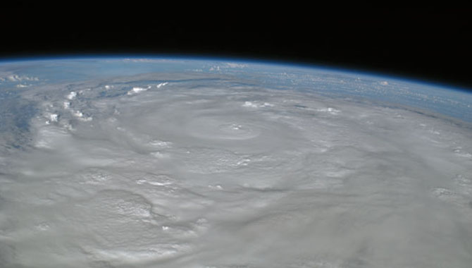 Picture of Hurricane Ike taken by the crew of the International Space Station flying 220 statute miles above Earth. Photo Credit: NASA