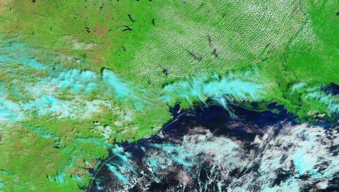 Coastal flooding after Hurricane Ike.