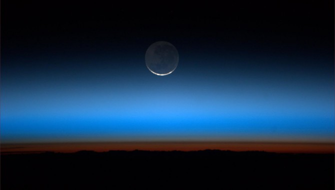 On July 31, 2011, Expedition 28 astronaut Ron Garan looked out his window aboard the International Space Station and saw the moon.