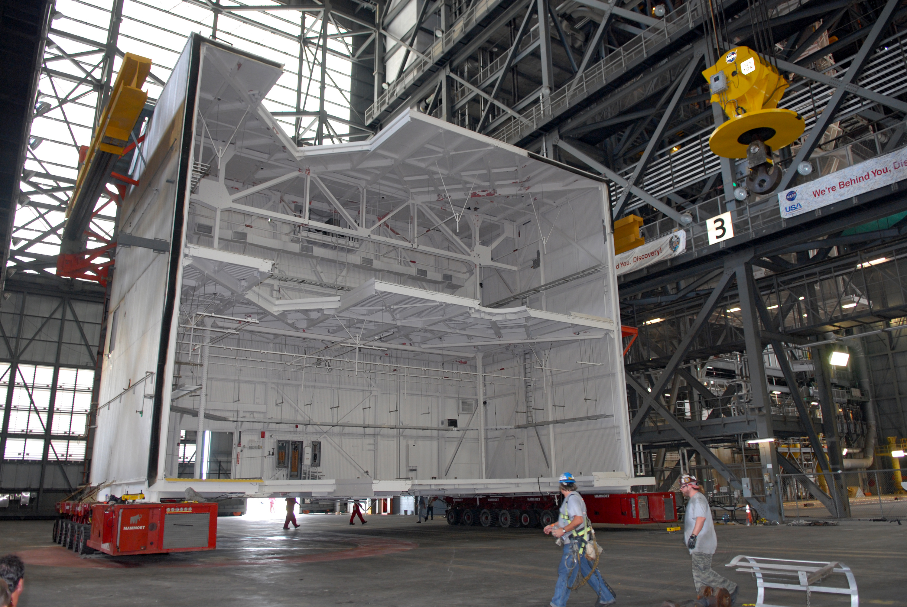 The refurbishment of the VAB will include removing seven Apollo-era platforms from high bay 3 and replacing them with modern versions that can be relocated and reconfigured for multiple launch vehicles.