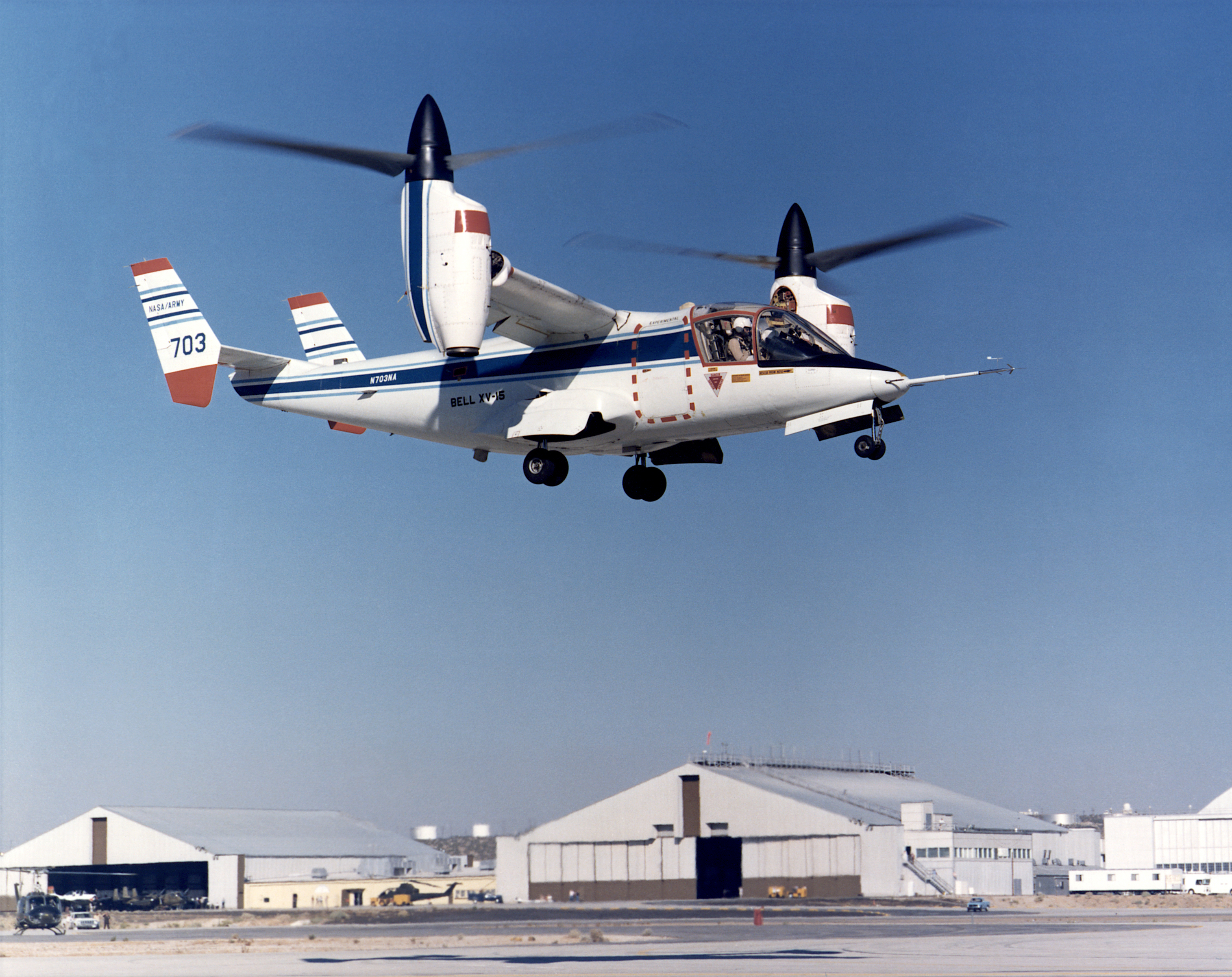 "The development of the XV-15 tiltrotor research aircraft was initiated in 1973 with joint army–NASA funding as a ""proof of concept,"" or ""technology demonstrator"" program, with two aircraft being built by Bell Helicopter Textron in 1977."