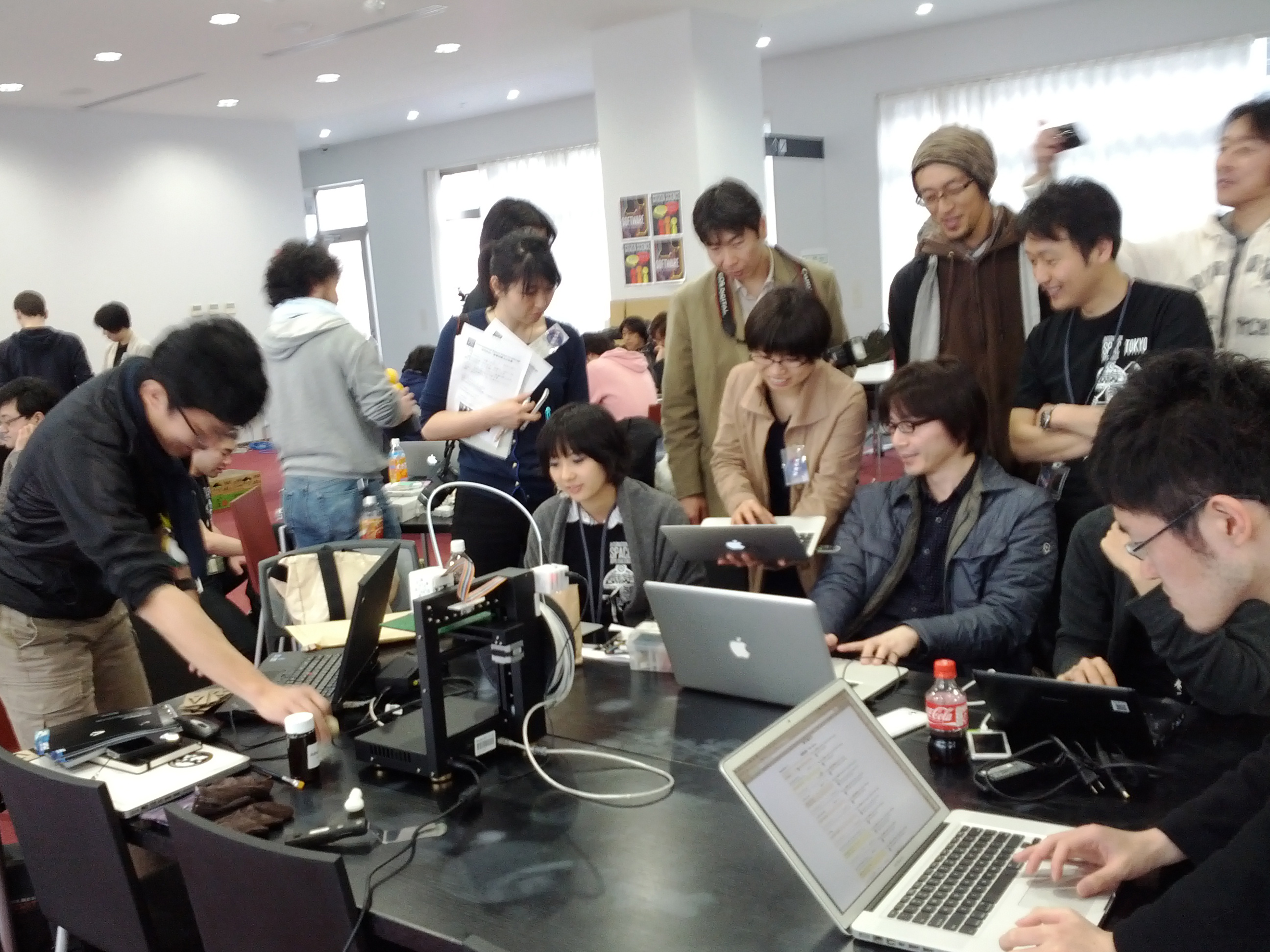 People all over the world—here, in Tokyo—participated in the 2012 International Space Apps Challenge. Photo Credit: Fumi Yamazaki