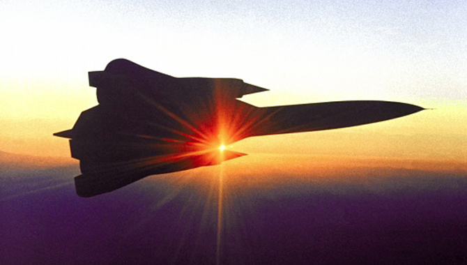 YF-12 Blackbird in Flight
