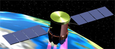 Artist's concept of the Vegetation Canopy Lidar spacecraft