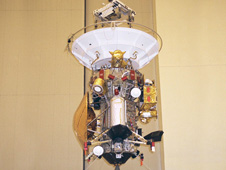 The Cassini spacecraft is mated to the launch vehicle adapter in Kennedy Space Centers Payload Hazardous Servicing Facility. Cassini was once frequently cited as an example of what NASA should not to because of its size, complexity, and cost.