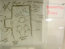 Schematic of the Innovation Room at KSC.