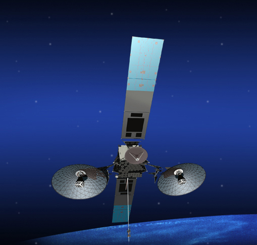 An artist's concept of the TDRS-K communication satellite.