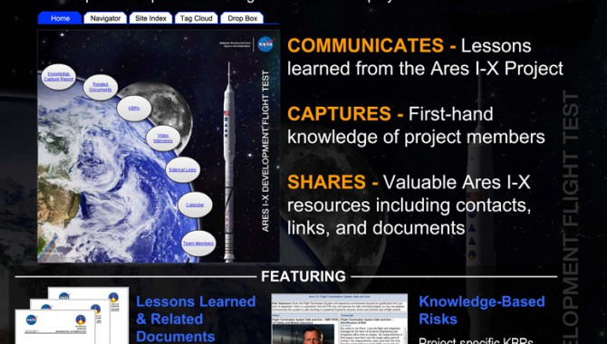 Ares 1-X Knowledge Share Wiki poster.