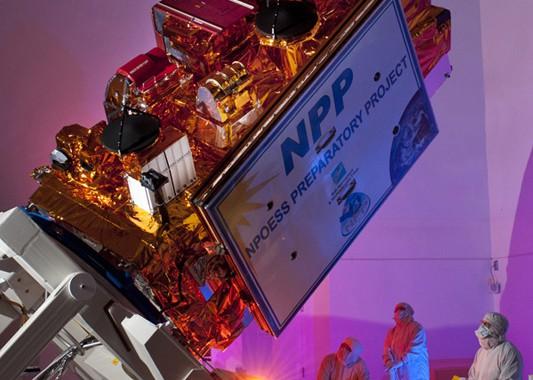 NPP Satellite at the Ball Aerospace facility.
