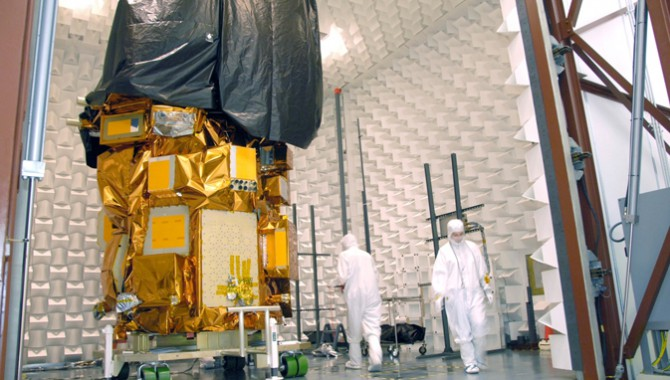As of August 30, the Landsat Data Continuity Mission (LDCM) Observatory successfully completed Electromagnetic Interference/Electromagnetic Compatibility testing at Orbital Science Corporation's facility in Gilbert, Arizona. It will next undergo a series of tests to validate that it can survive the launch environment.