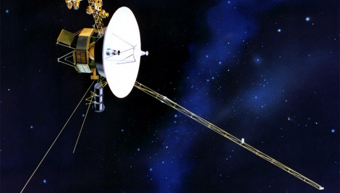 Artist's drawing of the Voyager 1 spacecraft, which launched on September 5, 1977.