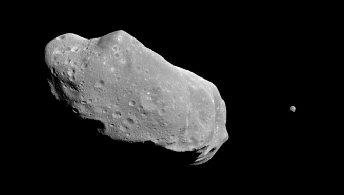 This Month in NASA History: Galileo Spots First Moon of an Asteroid
