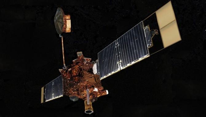 Artist's concept of Mars Global Surveyor. Image credit: NASA/JPL