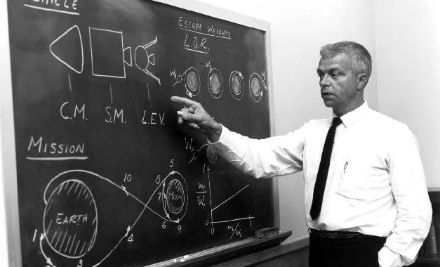 Lunar Orbit Rendezvous explained by John Houbolt. Credit: NASA