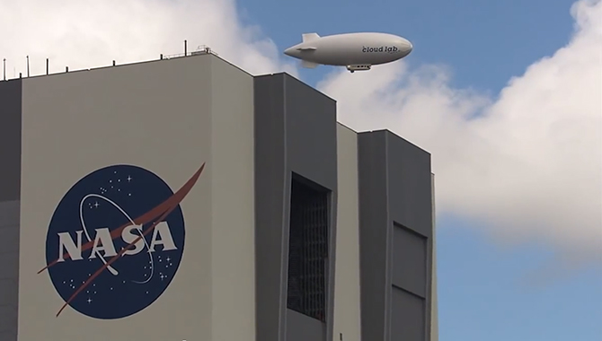 """The Microorganisms in the Stratosphere, or MIST, experiment flew over Kennedy Space Center aboard a """"Cloud Lab."""""""