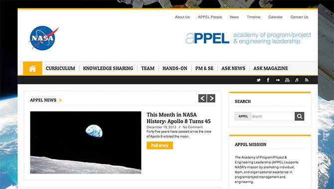 NASA APPEL Website Improvements