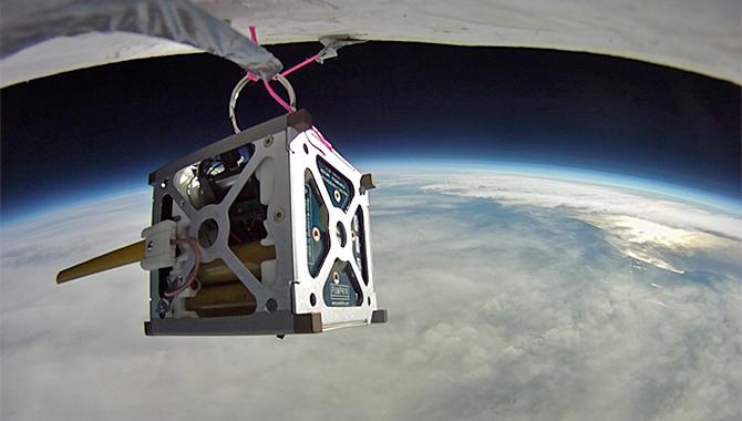 PhoneSat 1.0 during high-altitude balloon test.