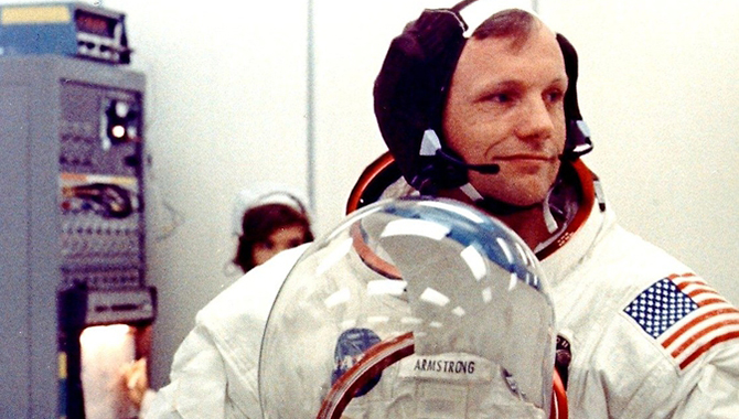 Apollo 11 commander Neil Armstrong suiting up on July 16, 1969. Photo Credit: NASA