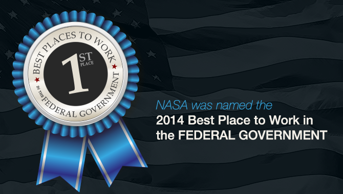 NASA named 2014 Best Place to Work in the Federal Government