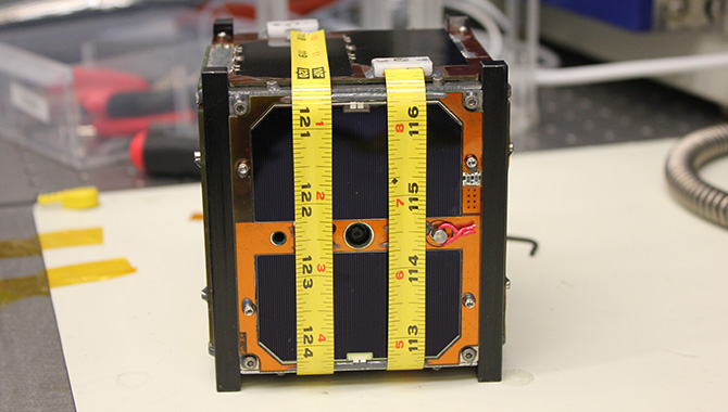 This cubesat was developed under the Small Spacecraft Technology Program at NASA. The agency's Cube Quest Challenge seeks to encourage non-government teams to develop similar small satellites that could potentially further NASA's journey to the moon and beyond. Photo Credit: NASA