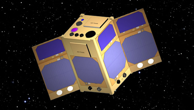 Artist's representation of the OCSD, a cubesat funded by NASA and developed by the Aerospace Corporation of El Segundo, CA. Image Credit: NASA