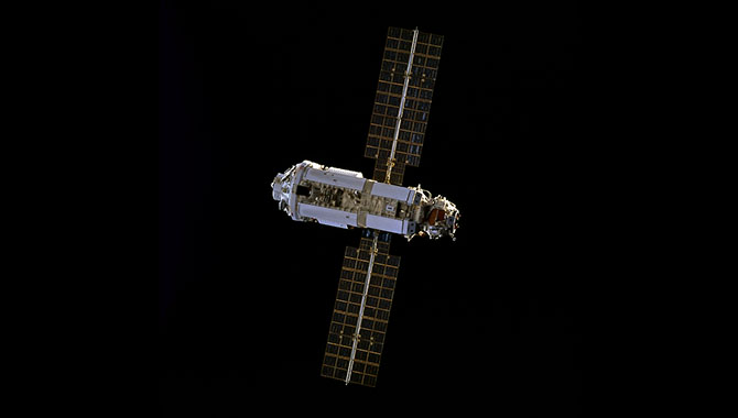 : The Zarya control module was the first component of the ISS to reach orbit. It provided initial power, communications capabilities, and orientation control for the space station. Photo Credit: NASA