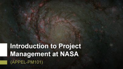 Introduction to Project Management at NASA (APPEL-PM101)