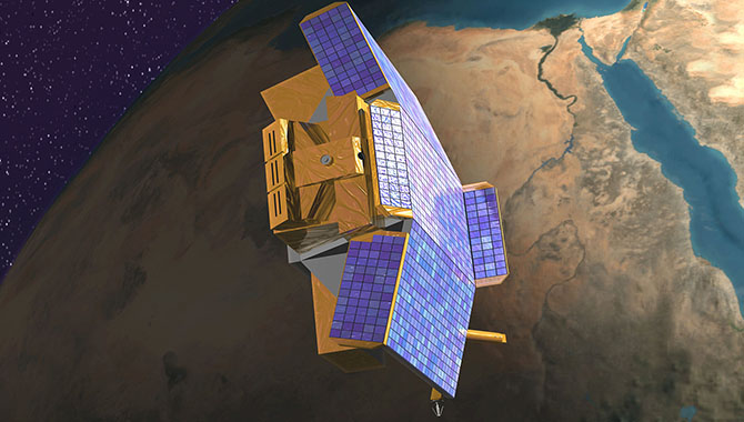 Artist's conception of the CHIPSat, NASA's first and only University-class Explorer mission.