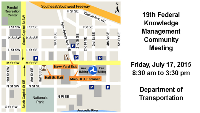 The 19th Quarterly Federal Knowledge Management Community meeting will be held at Department of Transportation. Image Credit: DOT