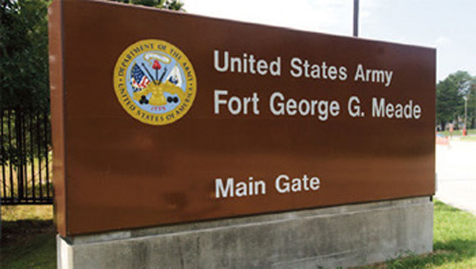 Fort Meade main gate. Photo Credit: U.S. Army