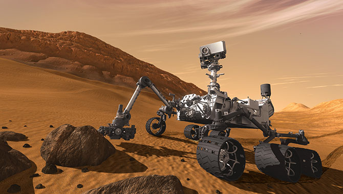 The Curiosity rover was subjected to stringent sterilization procedures. Image Credit: NASA
