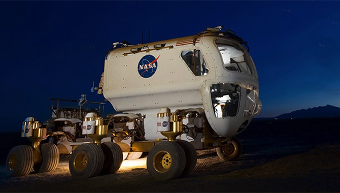 NASA is currently working to on a vehicle that will be able to navigate tough terrain with the Multi-Mission Space Exploration Vehicle (MMSEV). Photo Credit: NASA