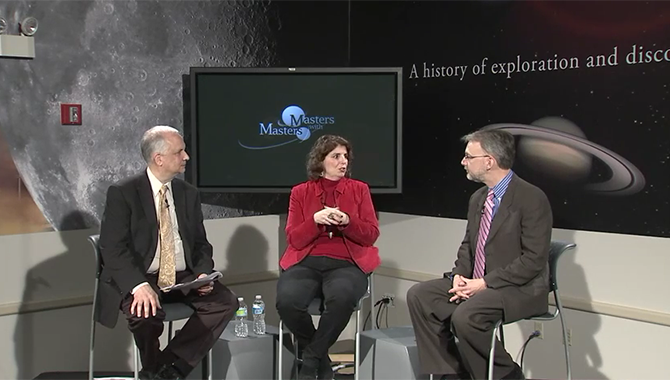 Chief Knowledge Officer Ed Hoffman moderated a lively discussion with two master practitioners at NASA's Glenn Research Center (GRC), Diane Malarik, Senior Project Manager of the Space Flight System Directorate, and Michael Barrett, Deputy Chief for the Space Technology Project Office. Photo Credit: NASA