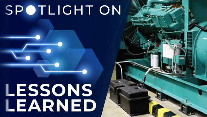 Spotlight on Lessons Learned: Battery Explosion