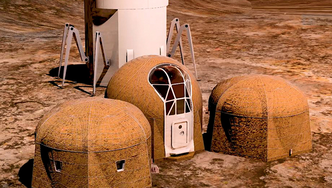 Teams Design 3D Printed Habitats for Mars