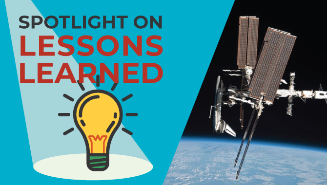 <em>Spotlight on Lessons Learned:</em> International Space Station Hardware Disposition Project