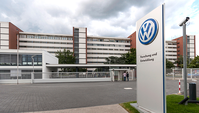 Volkswagen Research and Development building in Wolfsburg, Germany. Credit: Ralf Roletschek
