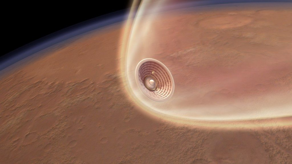 The HIAD Project is developing a truly crosscutting technology for atmospheric entry. This technology enhances, and potentially enables, a variety of proposed NASA missions to destinations with atmospheres (Mars, Venus, Titan, the gas giants). Credit: NASA