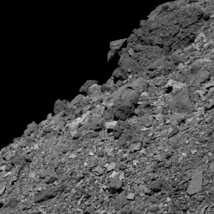 Asteroid Bennu's boulder-covered surface, as photographed by NASA's OSIRIS-REx spacecraft earlier this year. Credit: NASA/Goddard/University of Arizona