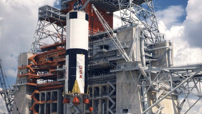 Historic Test Stand at Stennis Points Way to the Moon