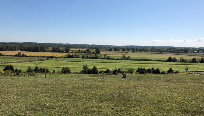 The Battle of Gettysburg began on the rolling hills to the west of town on July 1, 1863. Credits: Insight Staff