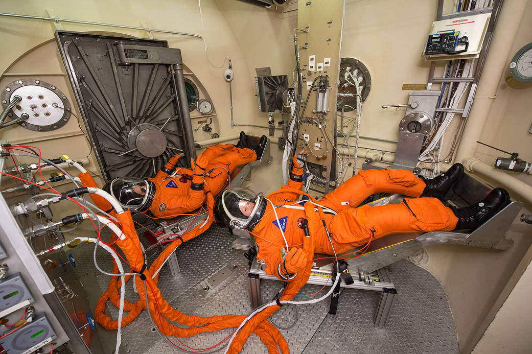 Engineers and technicians at NASA's Johnson Space Center in Houston are testing the spacesuit astronauts will wear