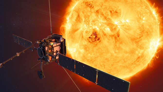 An artist's impression of ESA's Solar Orbiter spacecraft. Credit: ESA/ATG medialab