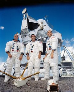 Left to right are Charles Conrad Jr., Richard F. Gordon Jr., and Alan L. Bean. Credit: NASA