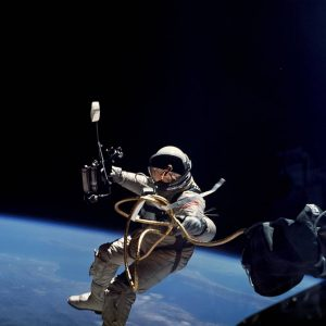 The technology to monitor health was first worn by astronauts James A. McDivitt and Edward H. White II during their historic Gemini IV flight—the first American spacewalk—to assure proper evaluation of their health and performance. Credit: NASA