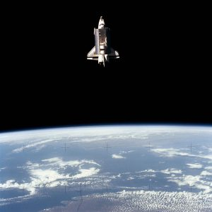 Space Shuttle Challenger during the busy flight day 5 of the STS-7 mission. Credit: NASA