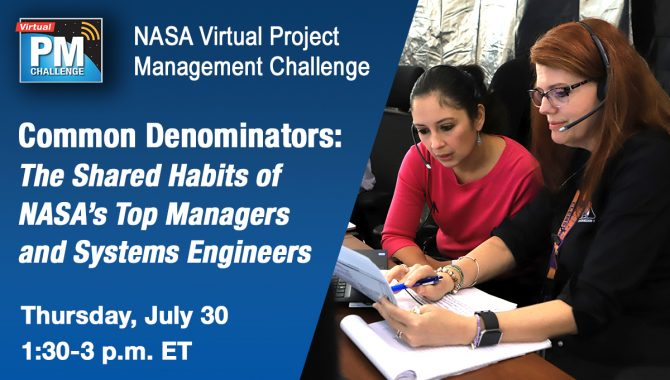 VPMC: Common Denominators: The Shared Habits of NASA's Top Managers and Systems Engineers