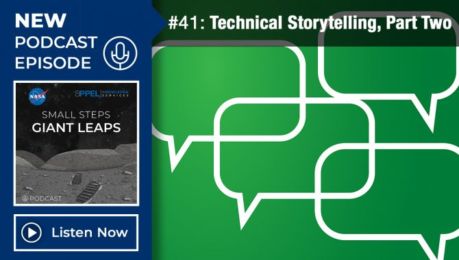 Podcast Episode 41, Technical Storytelling, Part Two